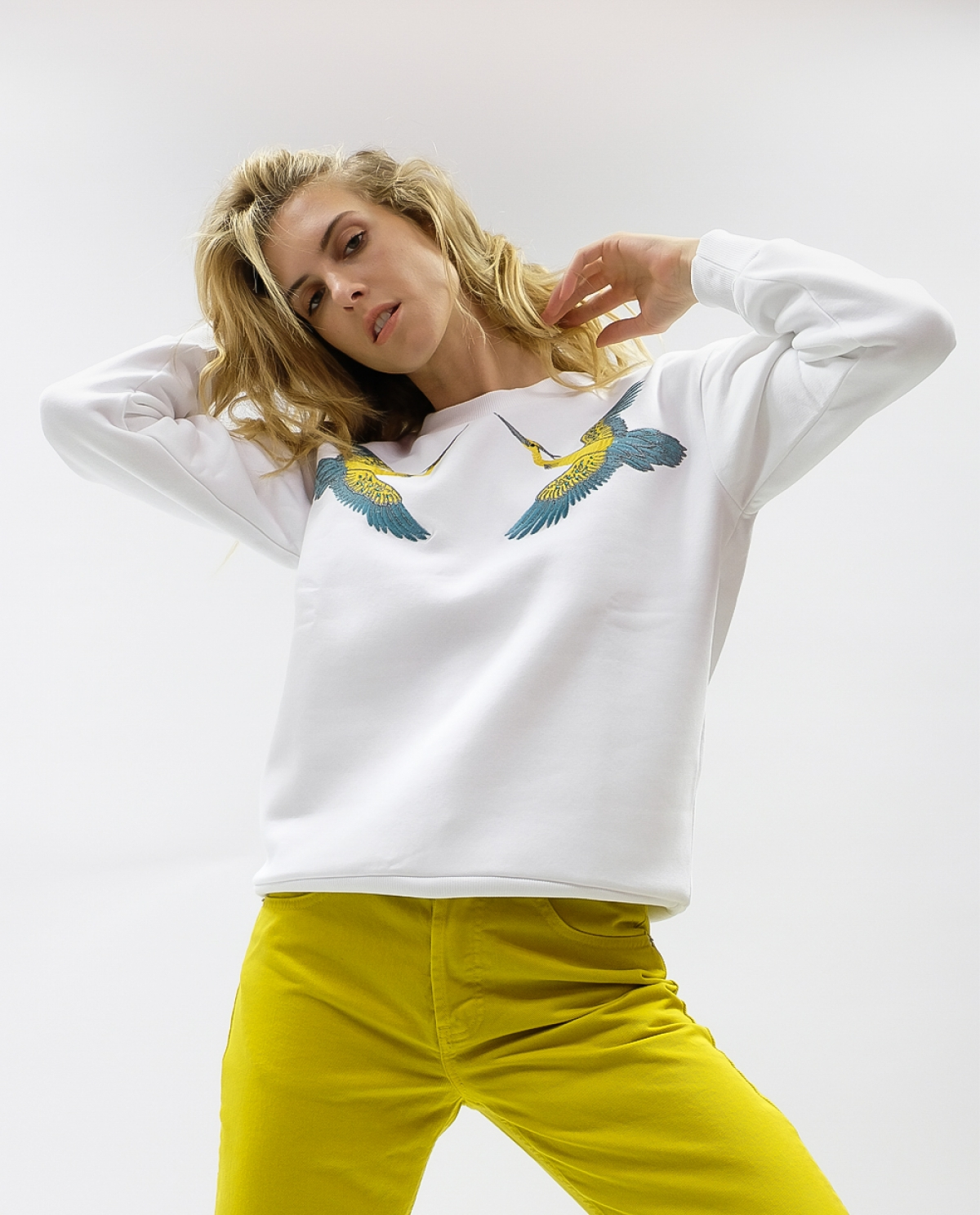 Colibri White Sweatshirt