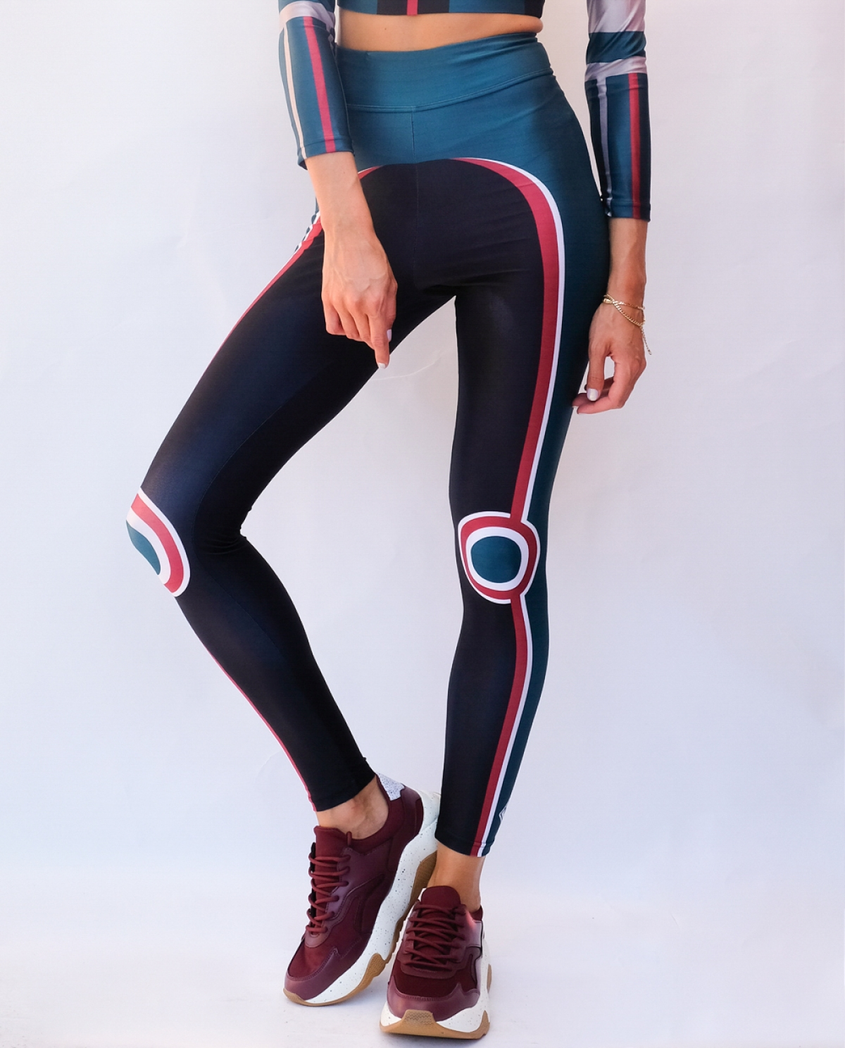 Cosmic Racer Petrol High-waisted Leggings