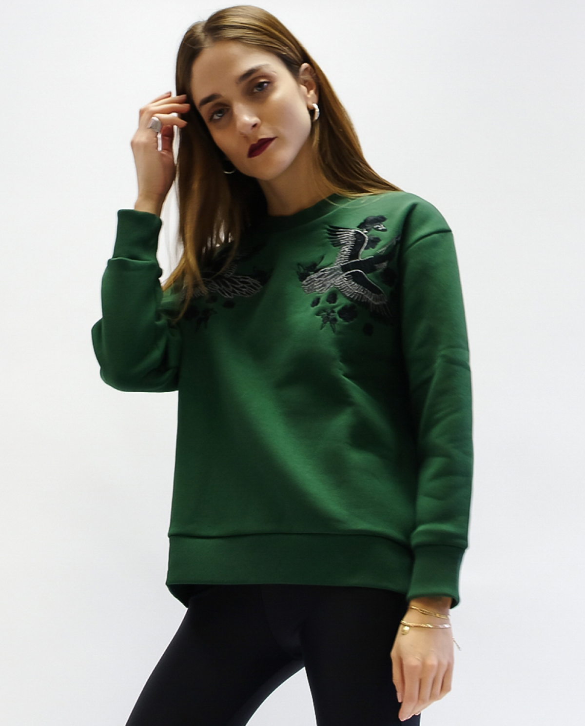 Crane Dark Green Sweatshirt