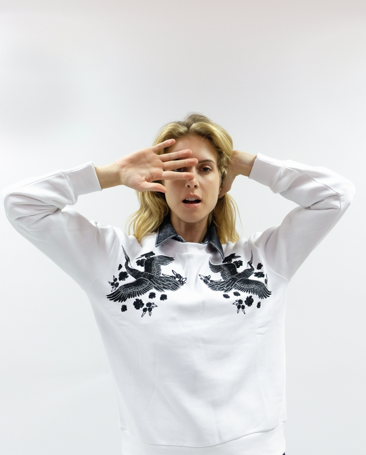 Crane White Sweatshirt