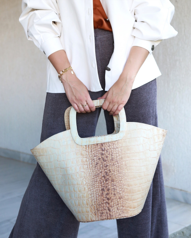 Cream Shopping Bag