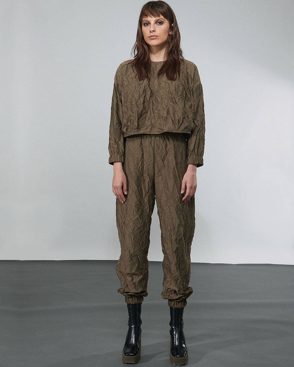 Crushed Elasticated Trousers