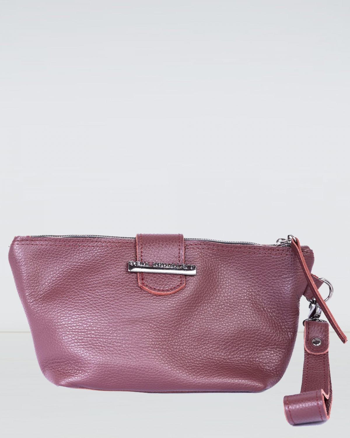 Day to Evening Burgundy Clutch