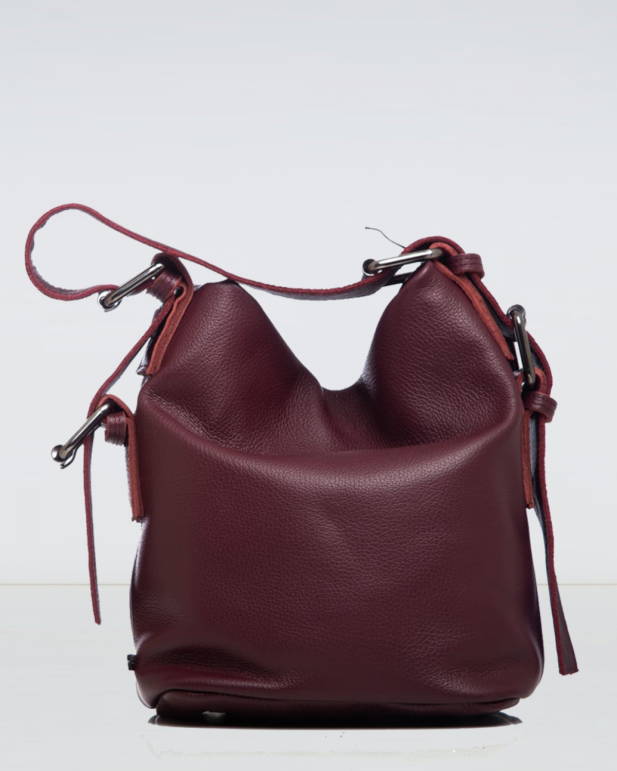 Day to Evening Burgundy Small Pouch Bag