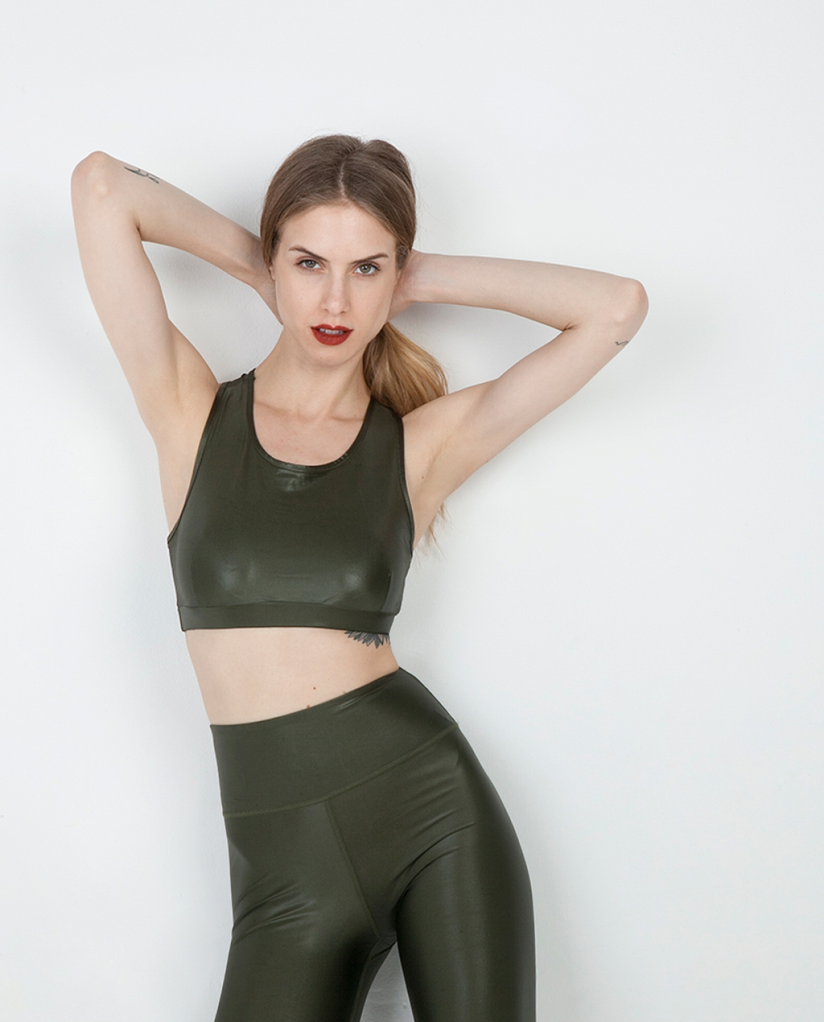 Dazzle Khaki Set (Sports Bra & Leggings)