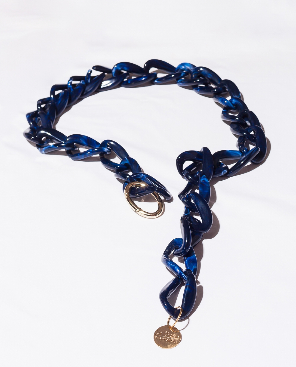 Deep Ocean Tortoise Resin Chain Link Belt
