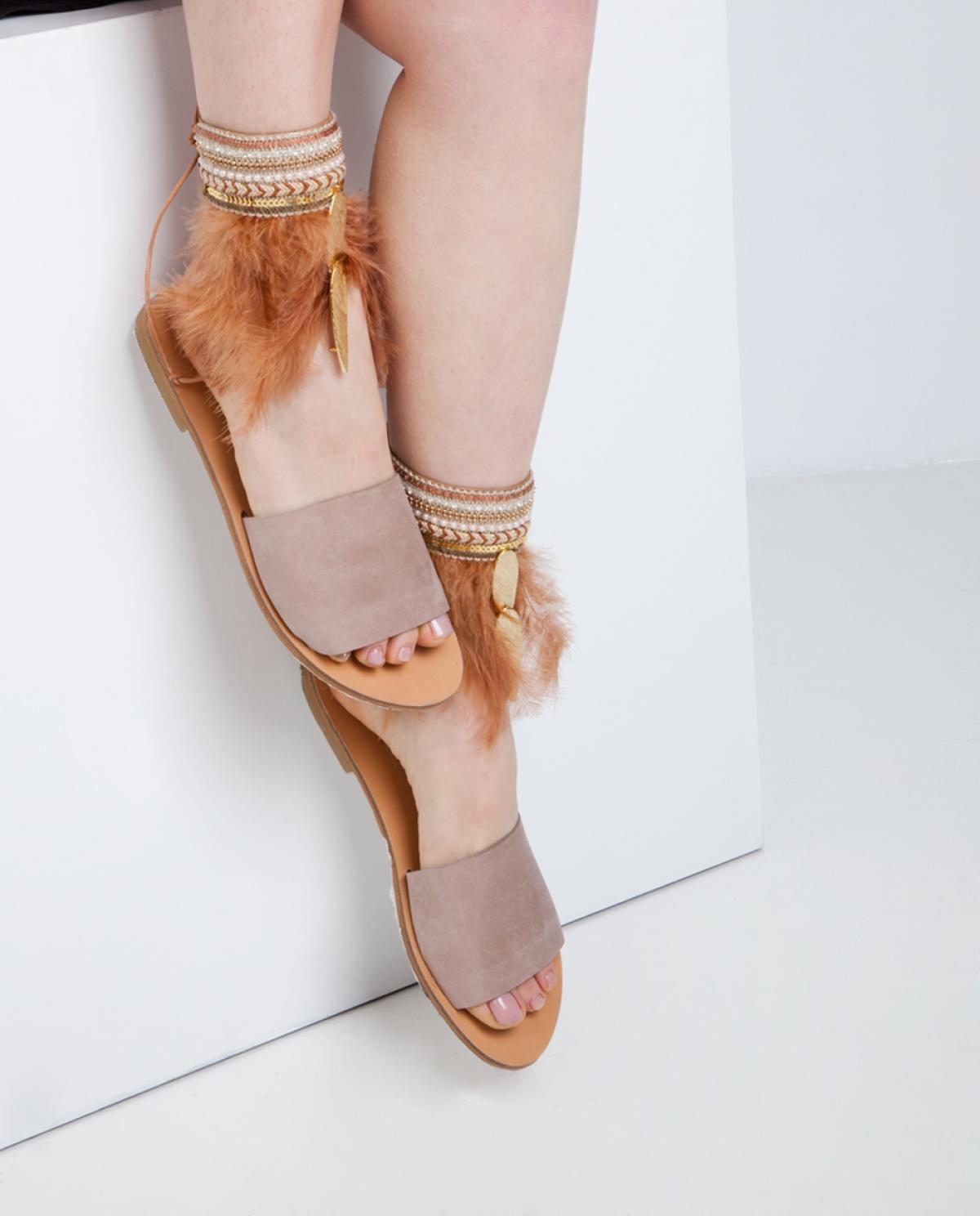 8d4c48315 Delilah Feather Sandals - Fashionnoiz