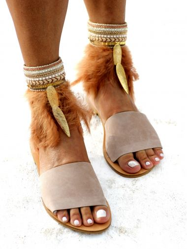 Delilah Feather Sandals
