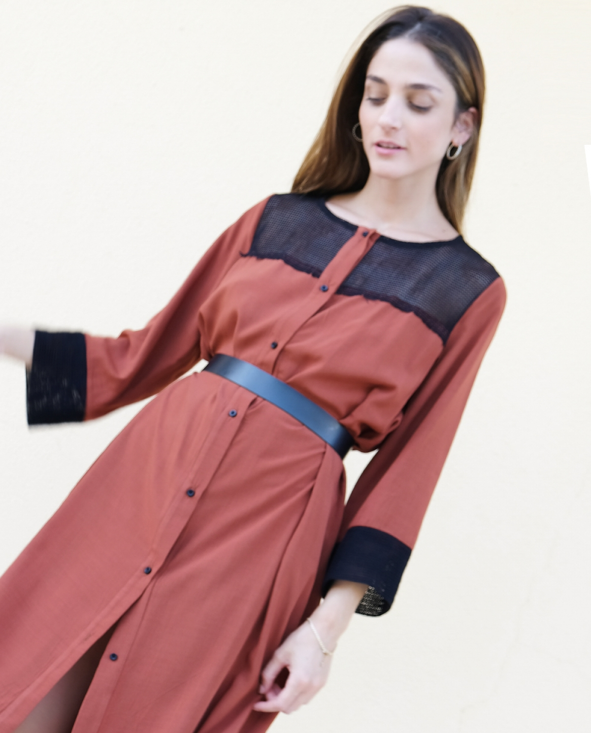 Discovery Crepe Shirt-dress