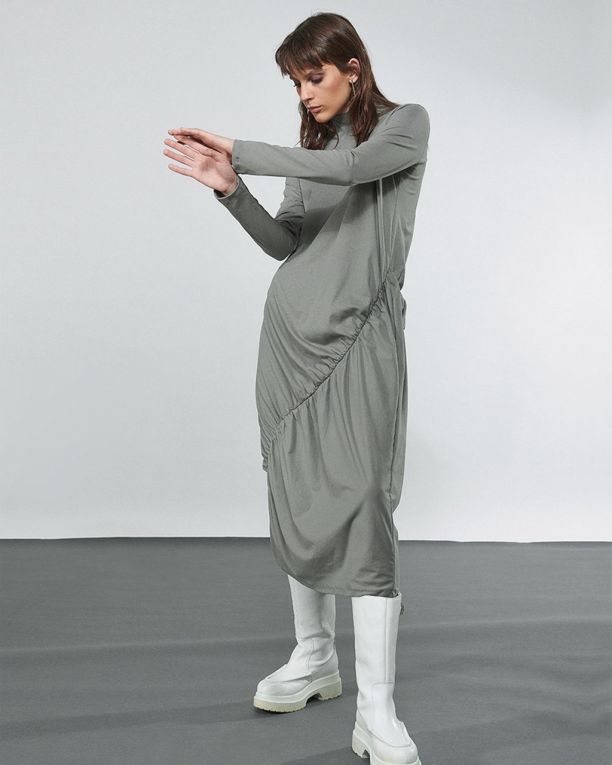 Dress With Elasticated Gathering