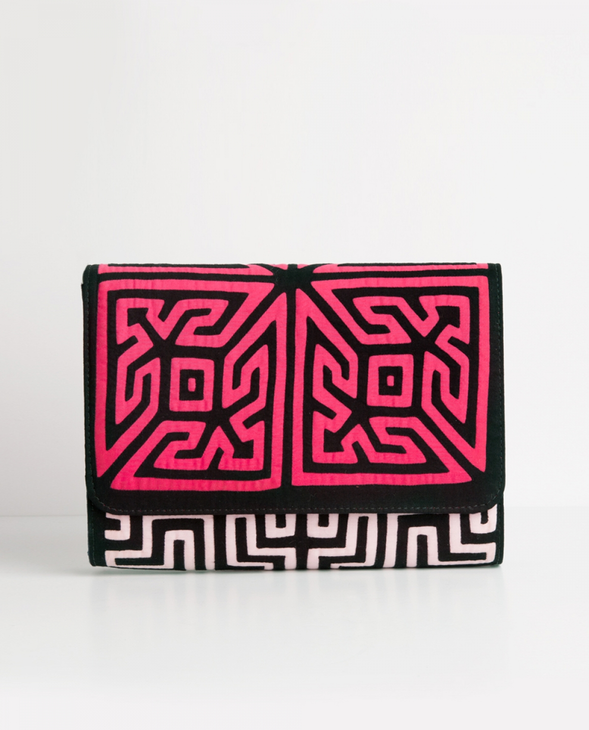 Duddu Embroidered Canvas Clutch