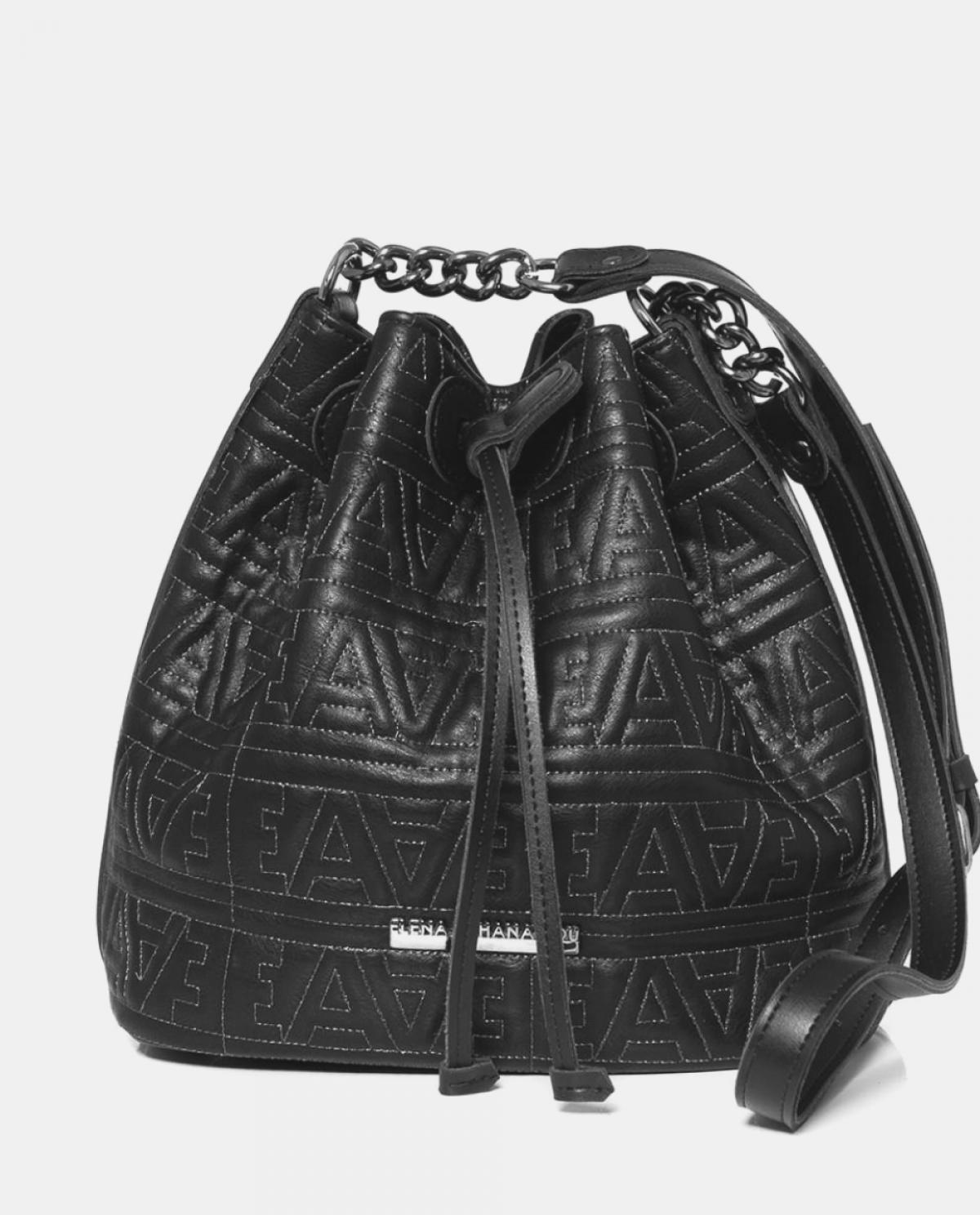 EA Logo Black Silver Pouch Bag