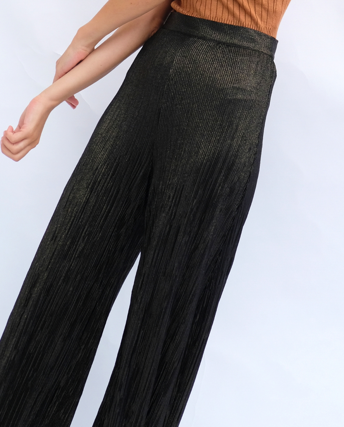 Embellished Wide-leg Trousers
