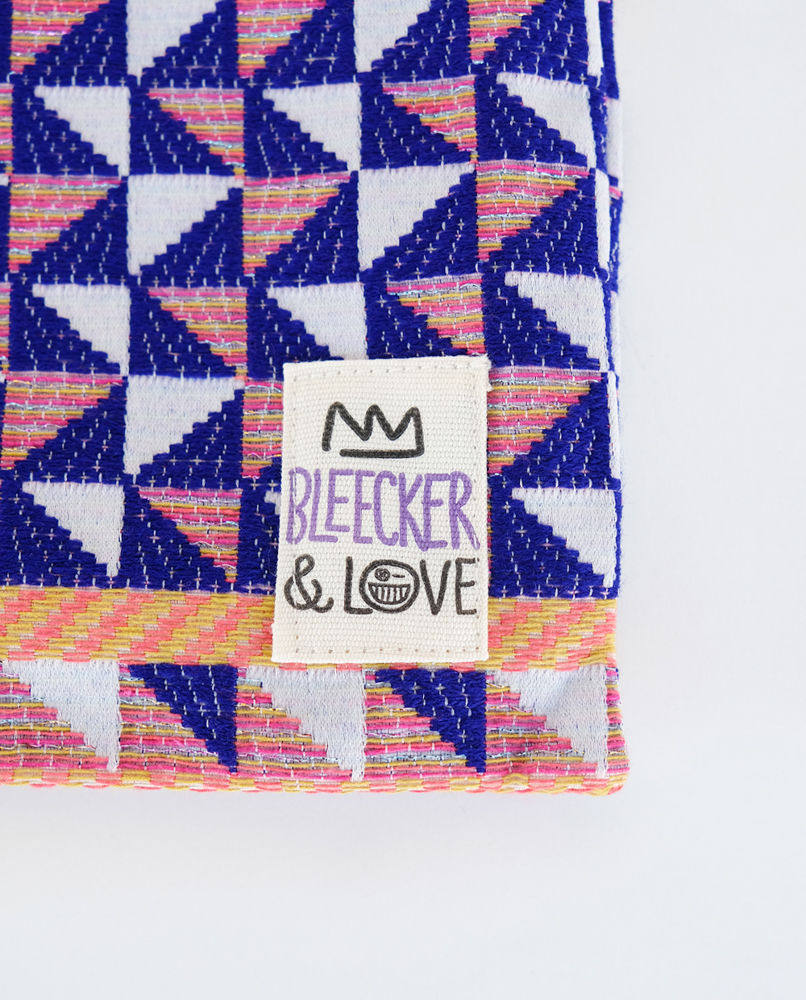 Woven Multicolor Medium Clutch