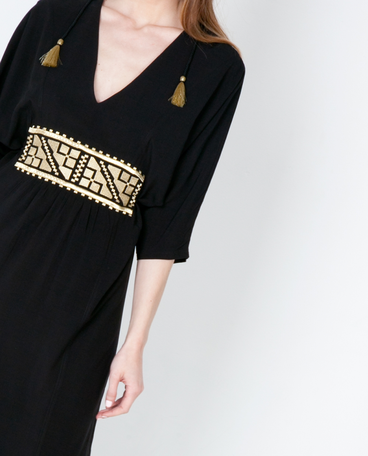 Embroidered Viscose Kaftan