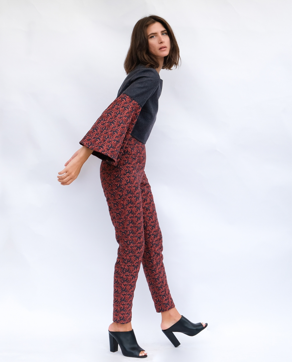 Embroidered Wool-blend Trousers