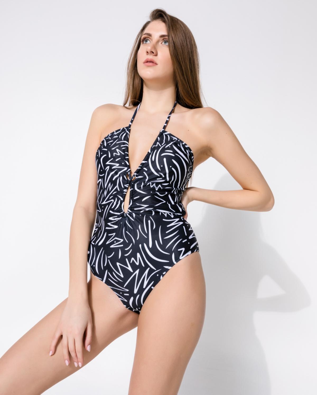 Erica Zebra Black Swimsuit