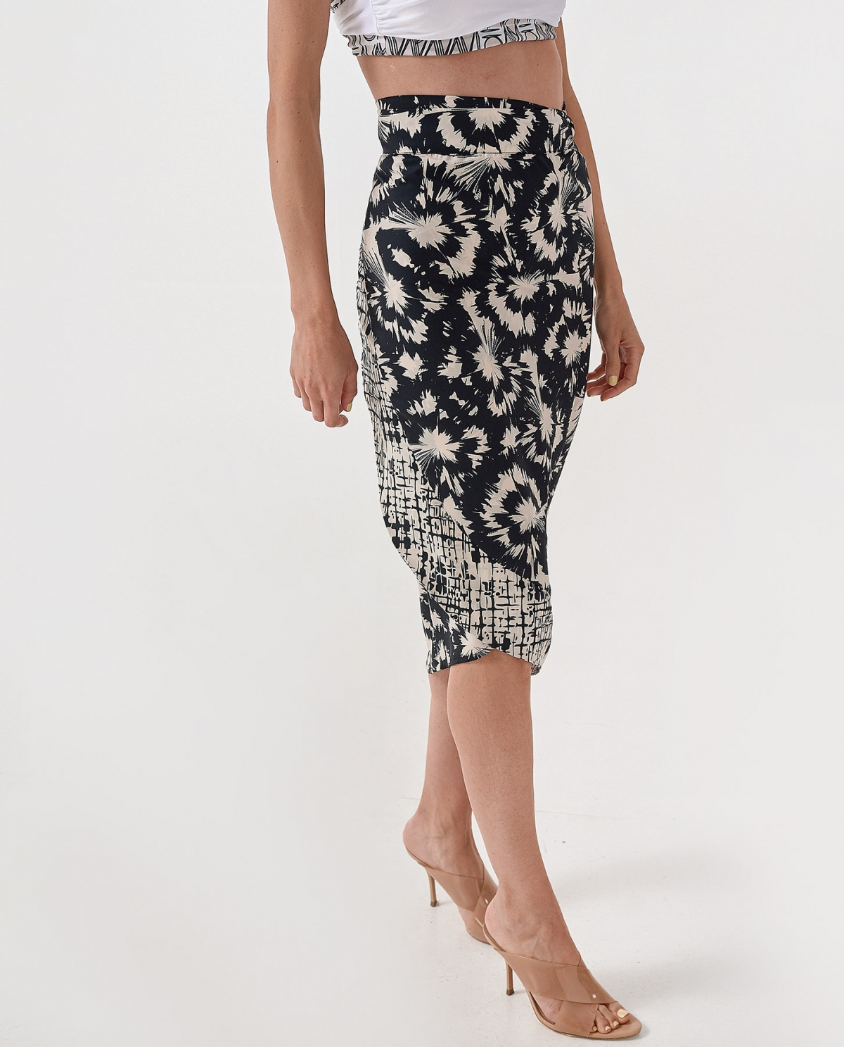 Estrus Midi Wrap Skirt