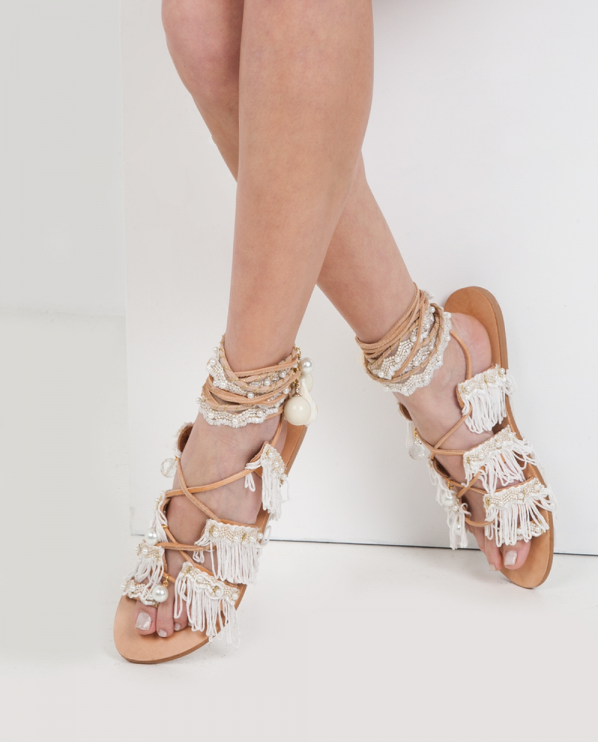 Ever After Tie-up Leather Sandals