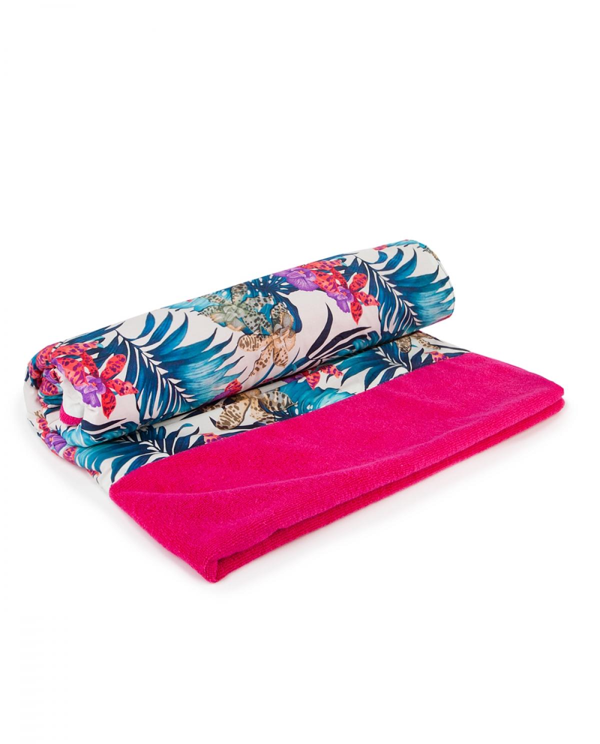 Exotica Magenta Beach Towel