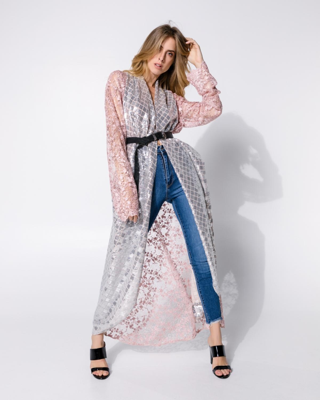 You And I Sequined Kimono