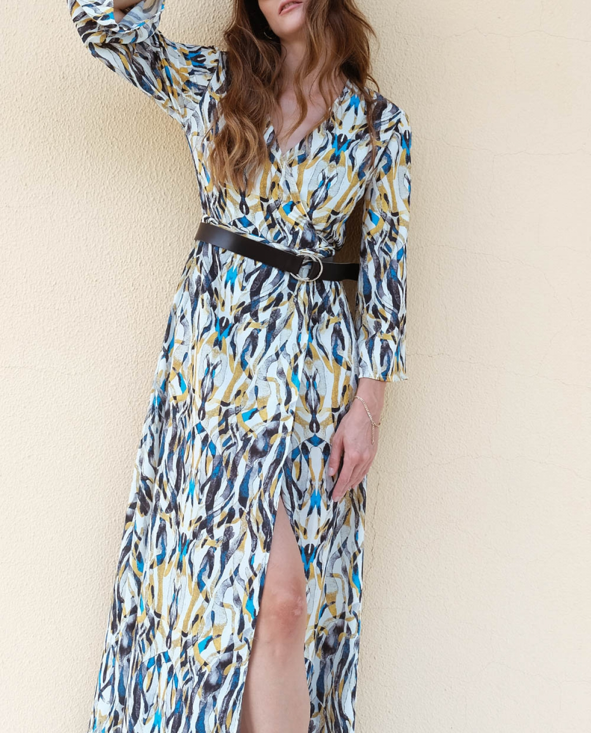 Flame Lilly Maxi Crouaze Dress