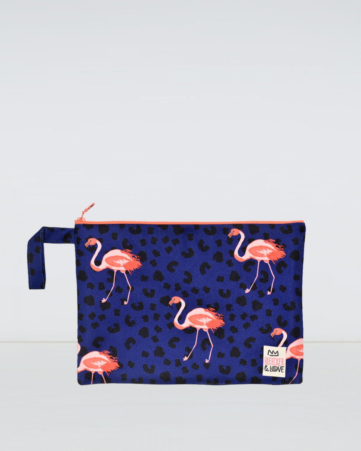 Flamingos Woven Medium Clutch