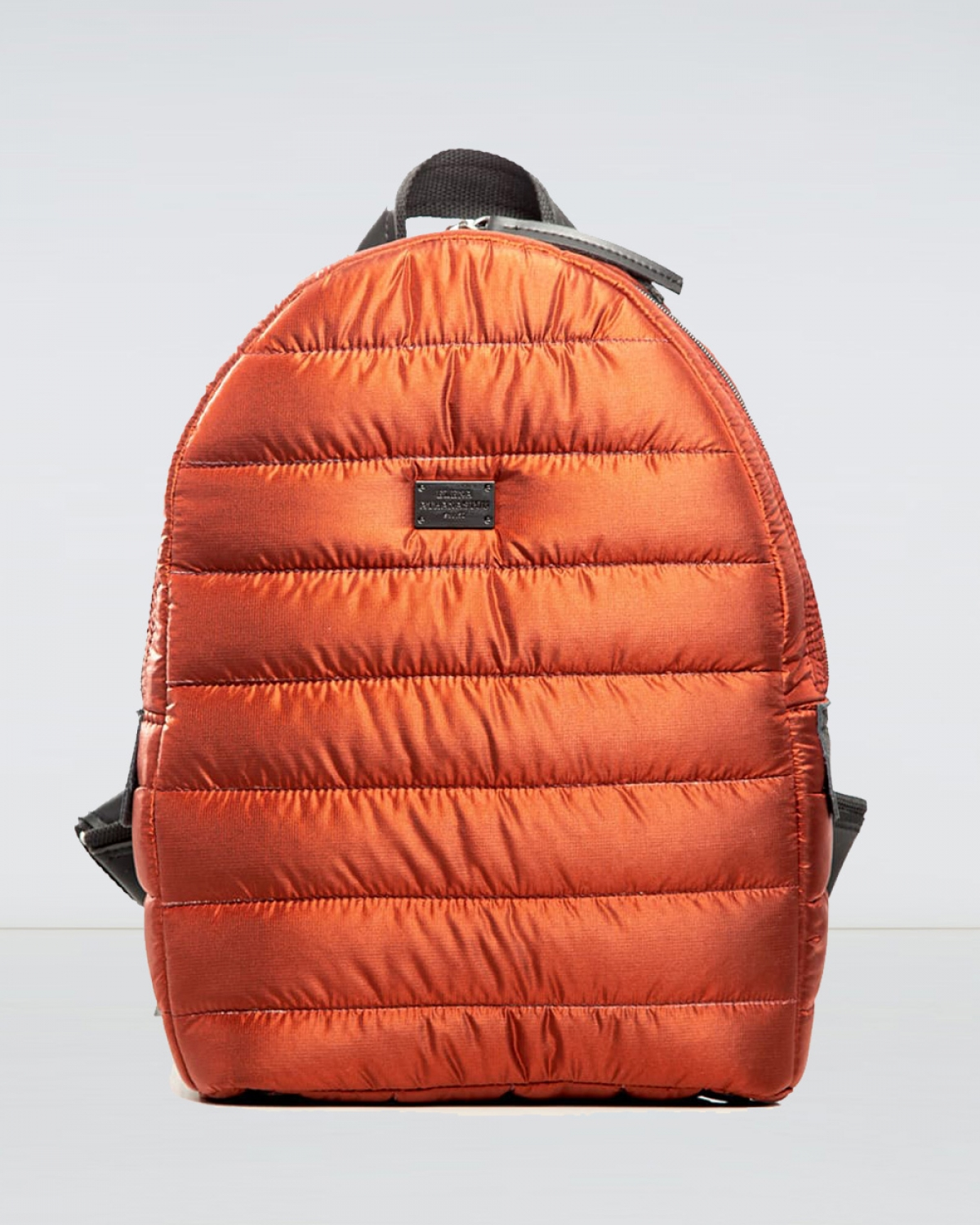 Fly Away Brick Red Puffer Backpack