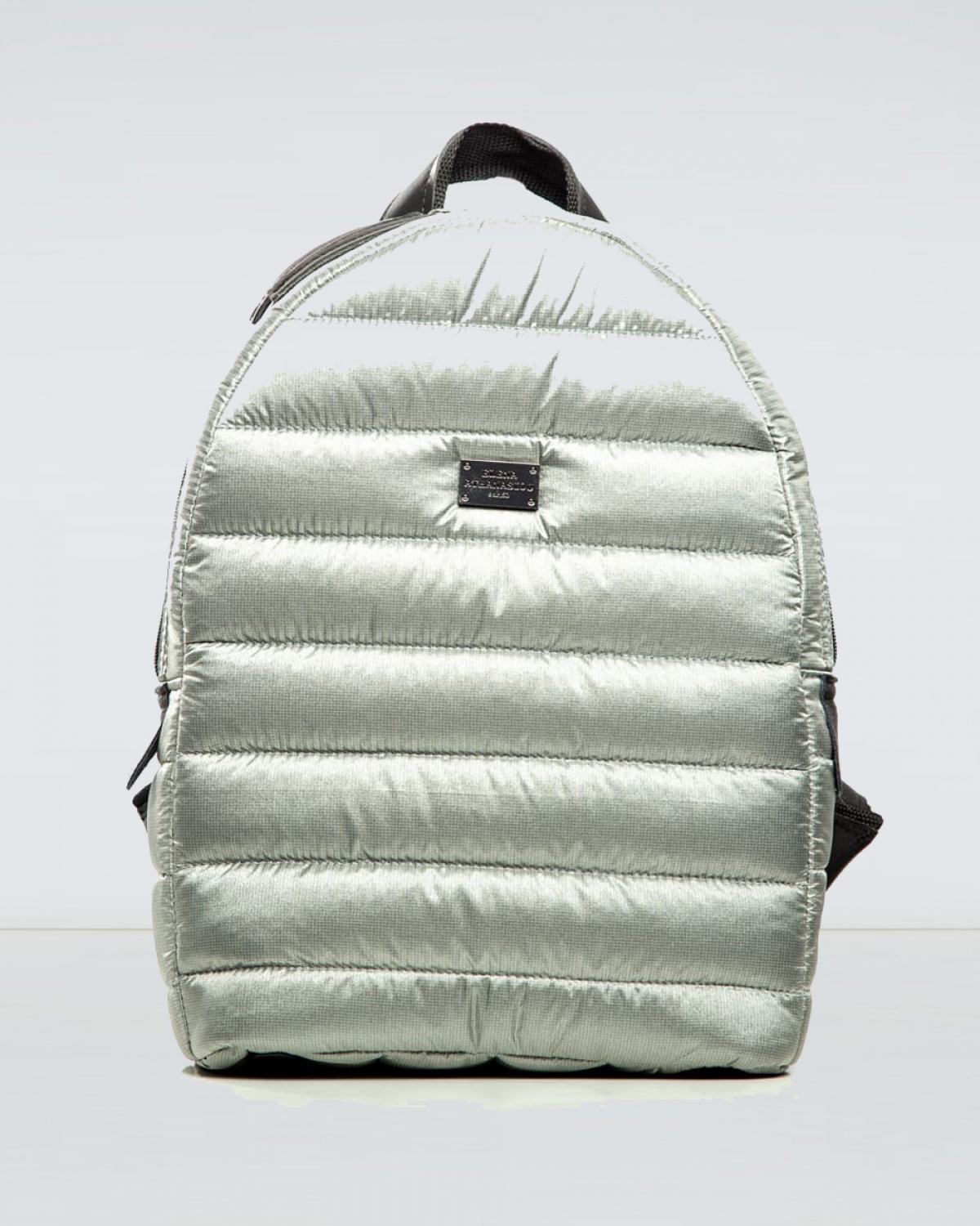 Fly Away Grey Puffer Backpack