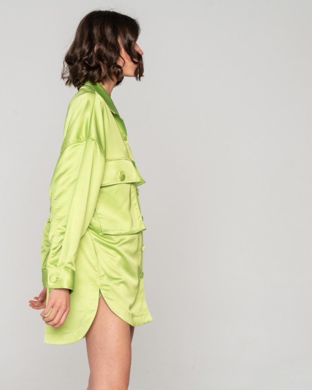 Freesia Shirt Dress Lime