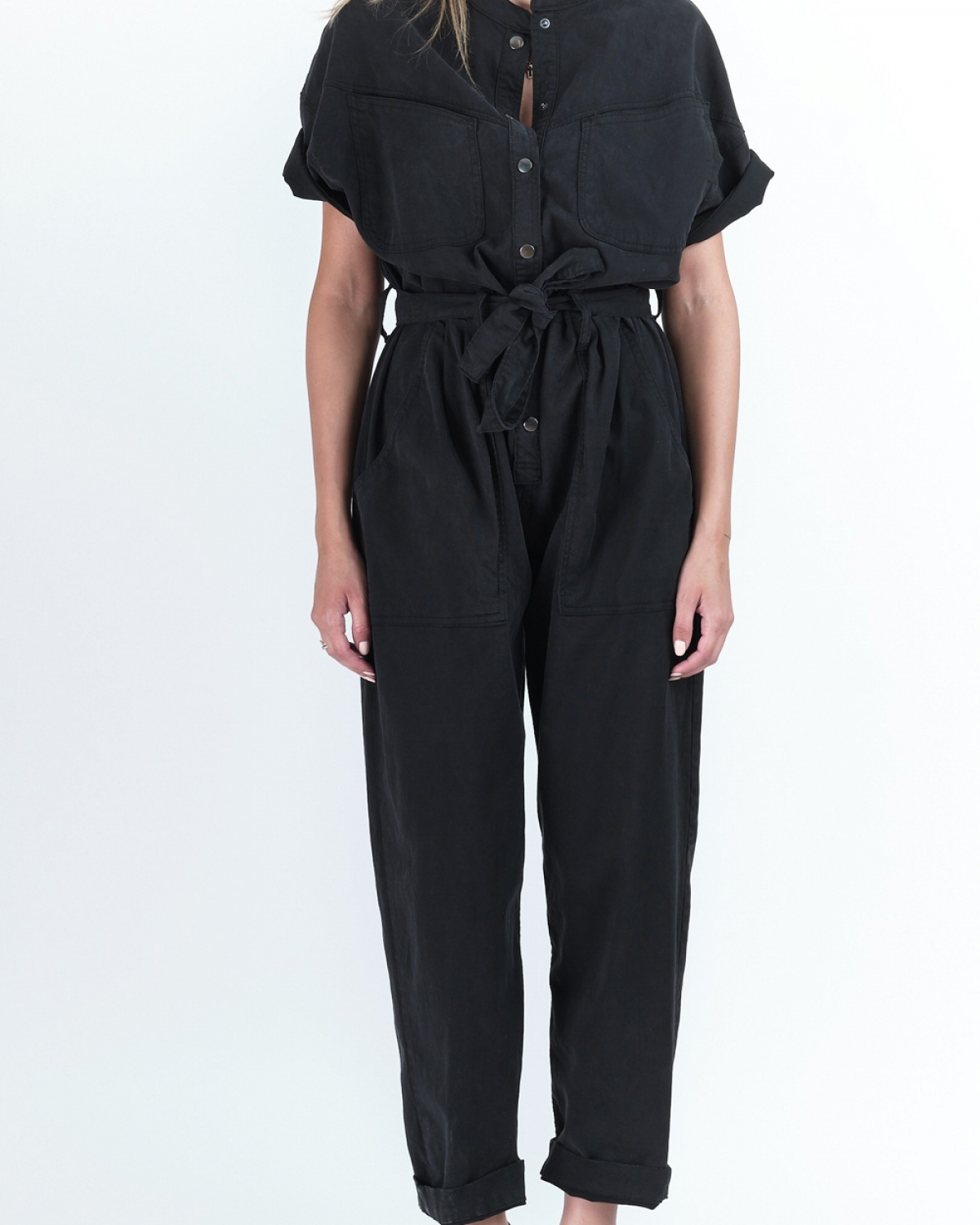Frida Midnight Black Jumpsuit