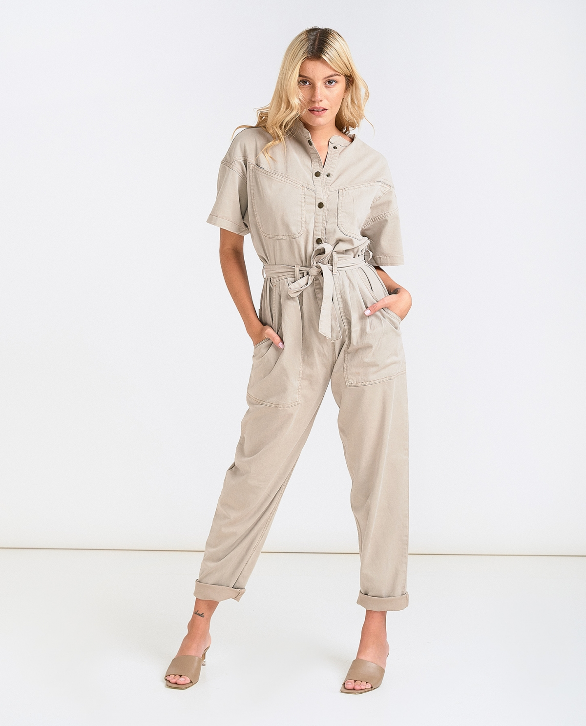 Frida Rainy Grey Jumpsuit