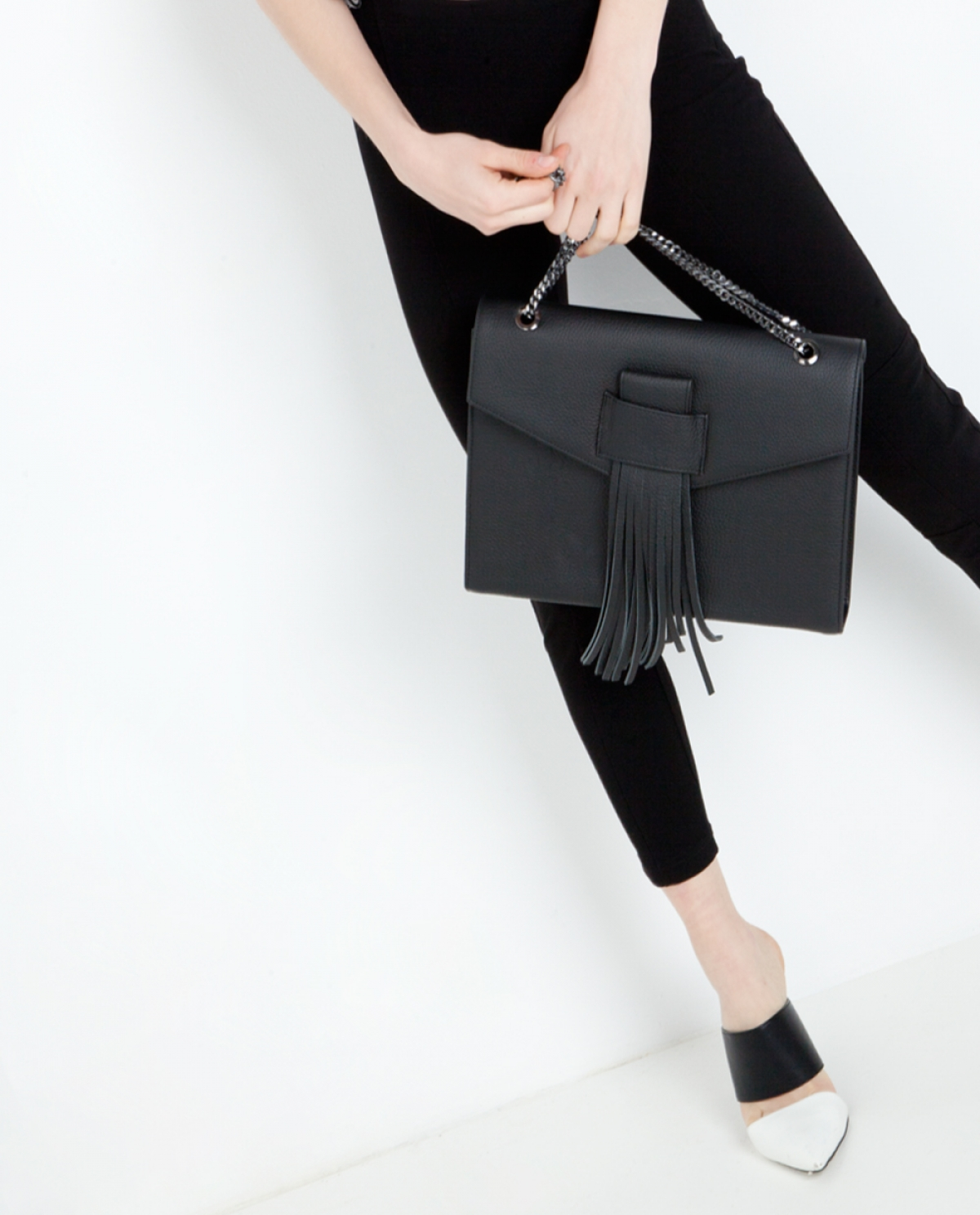 Fringed Leather Shoulder Bag
