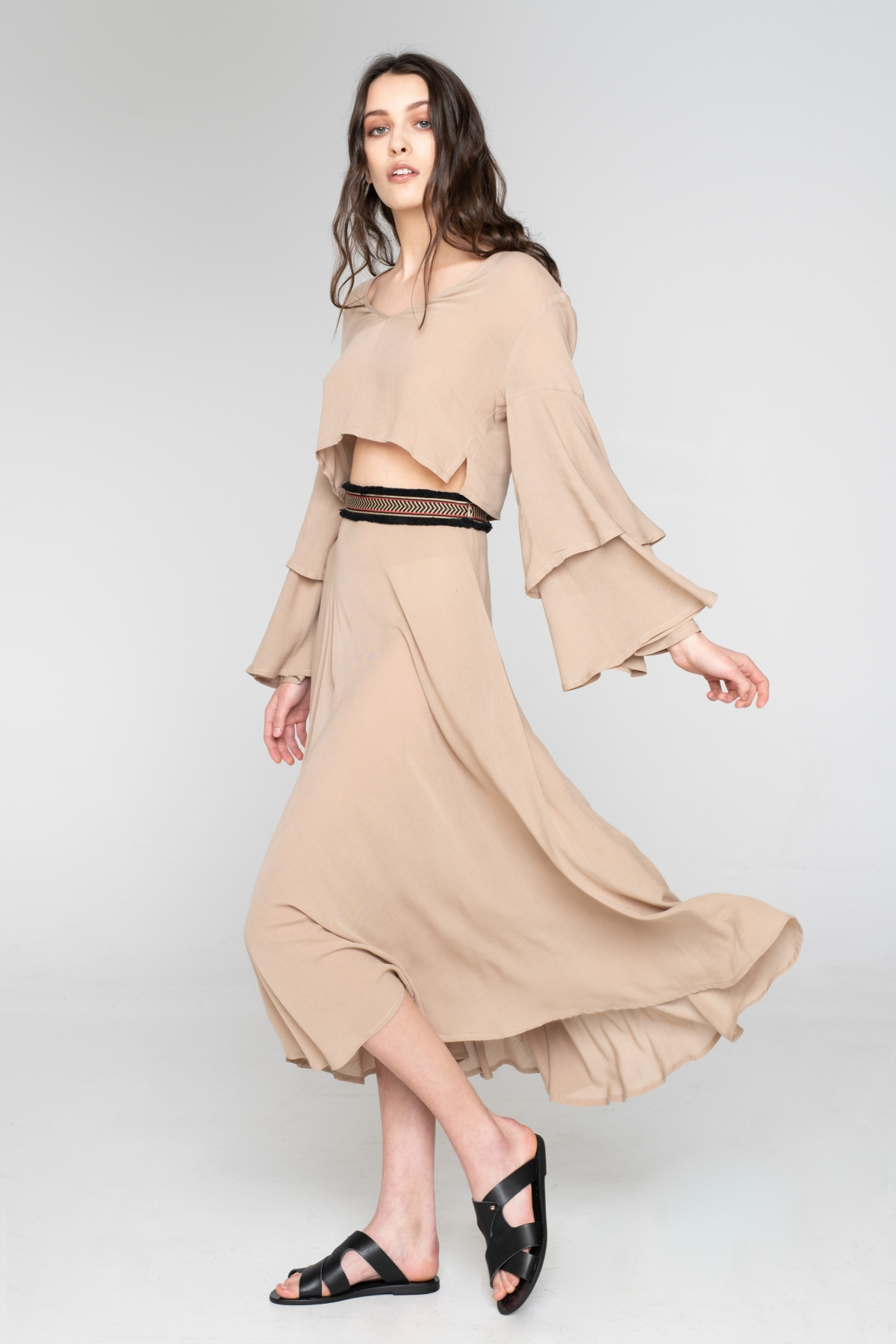 Fringes Beige Skirt