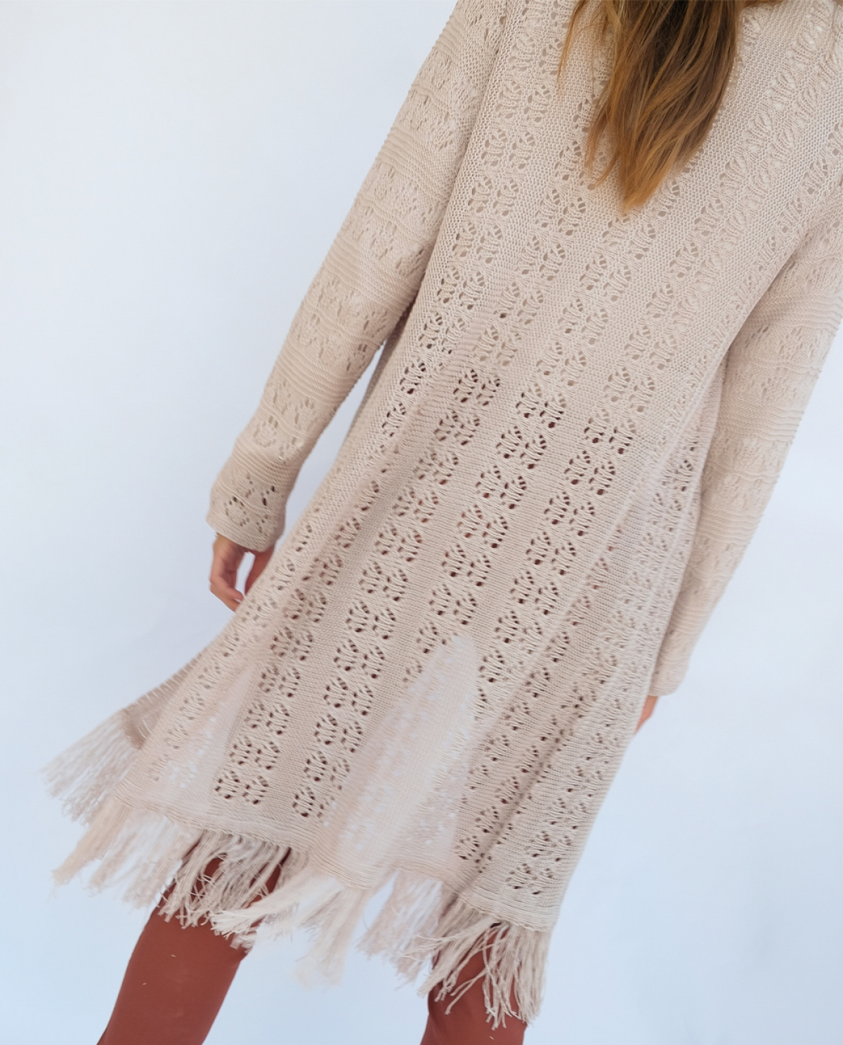 Fringes Knitted Cardigan
