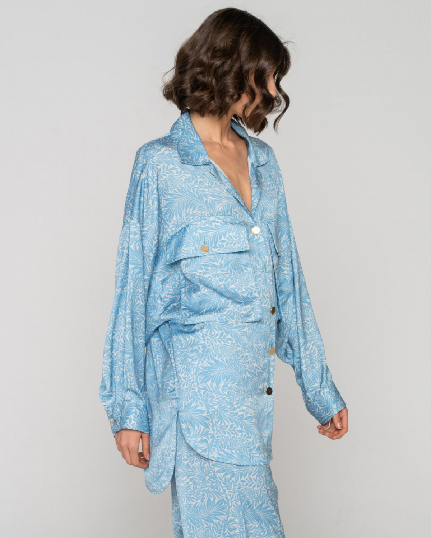 Fylla Long Turquoise Shirt