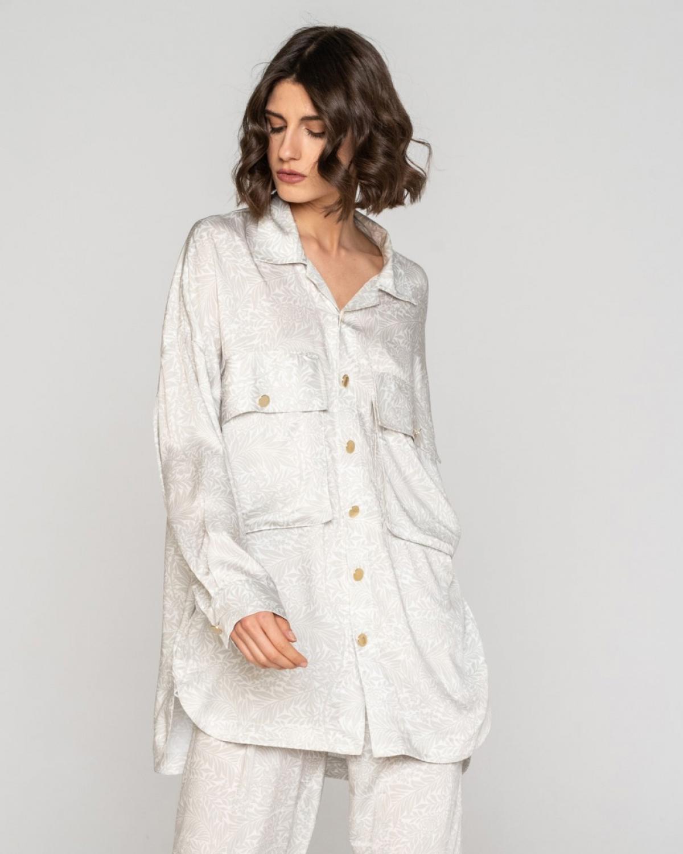 Fylla Elephant White Long Shirt