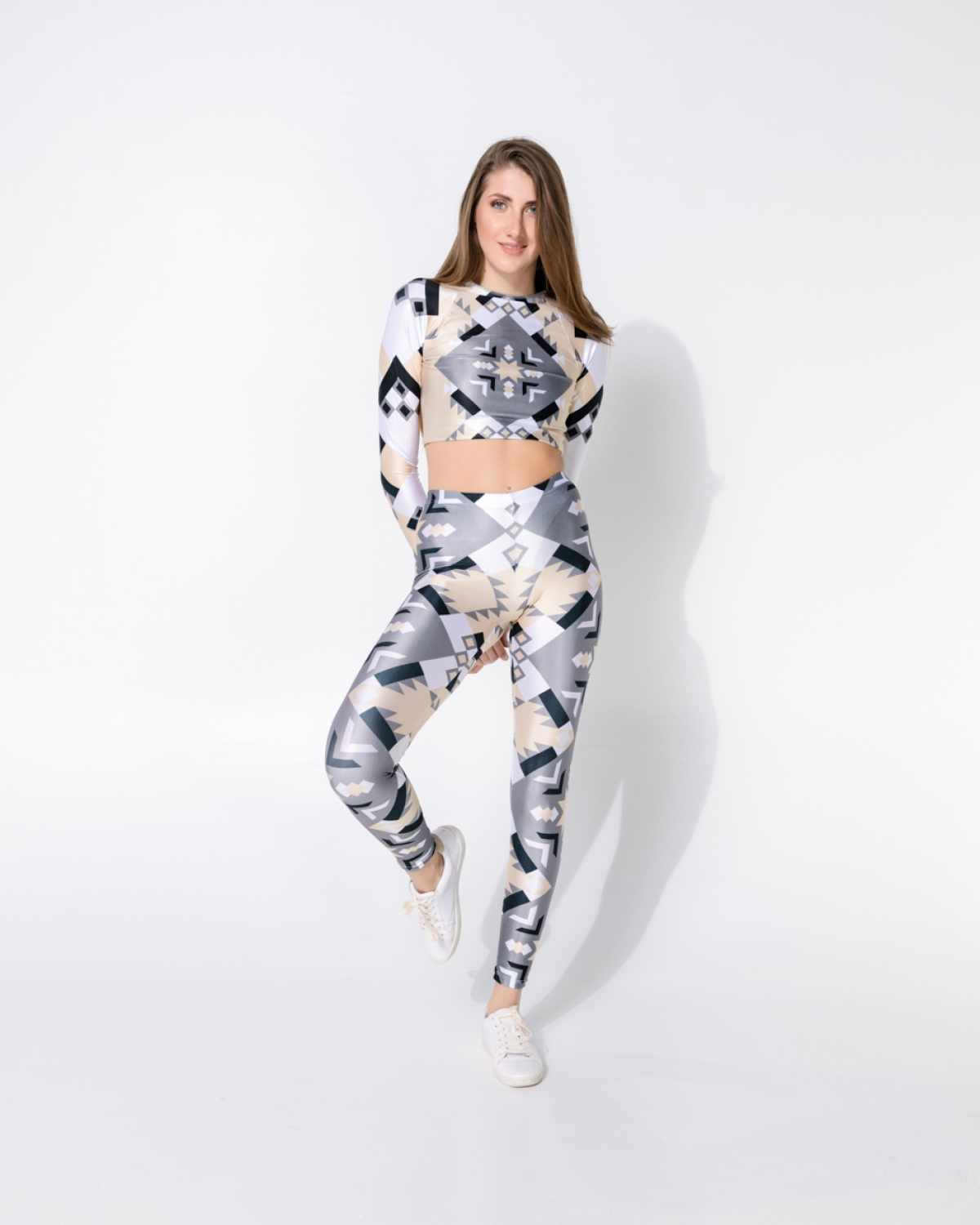 Geometric Grey Puma Punky Leggings