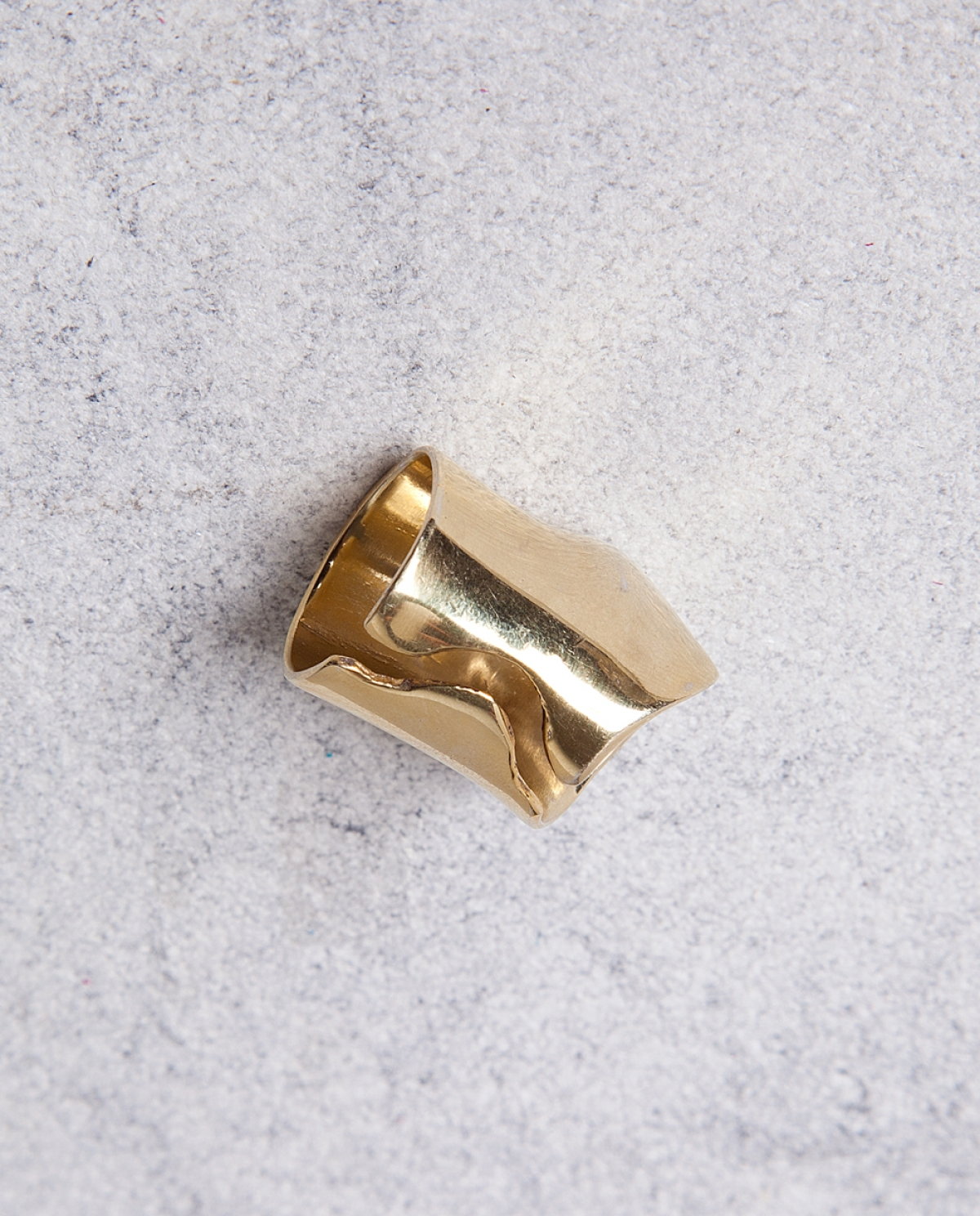 Gold Punch Ring