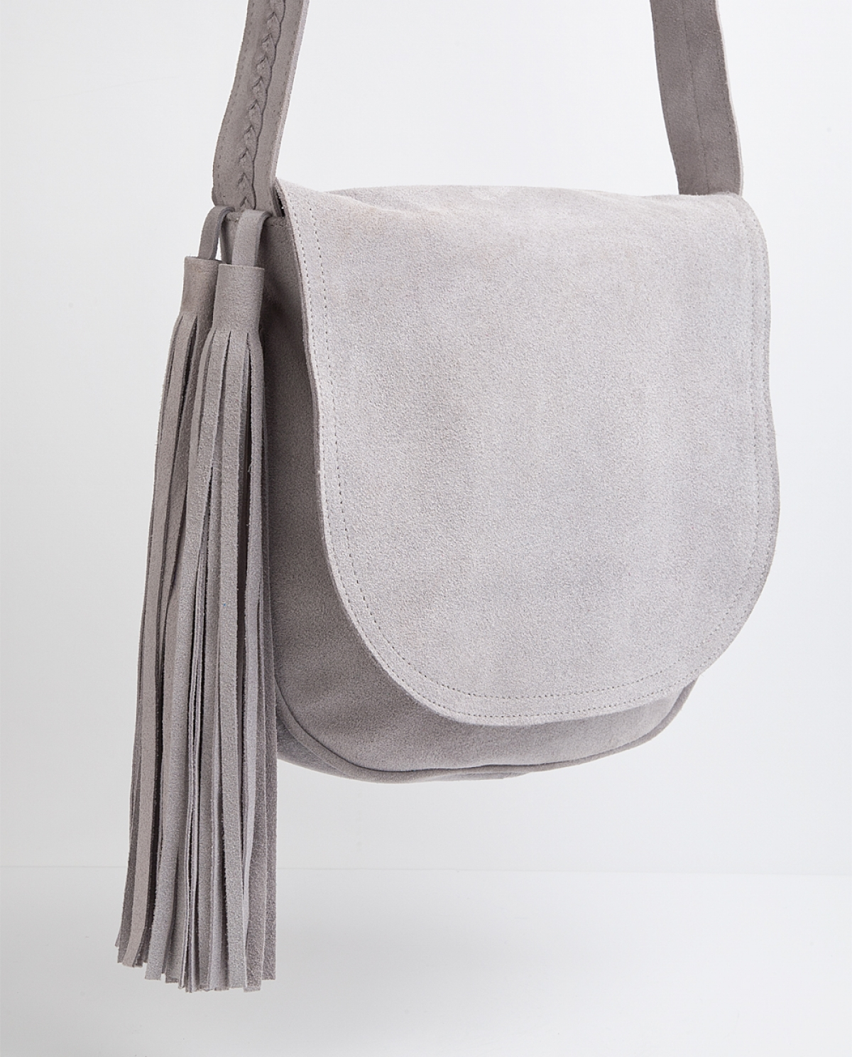 Grey Messenger Bag