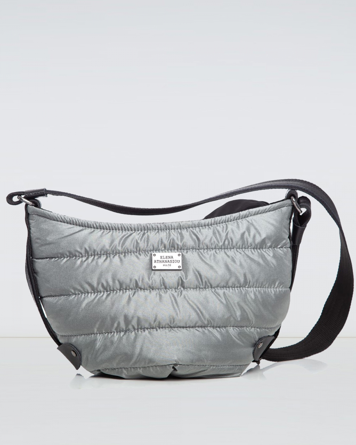Grey Puffer Large Bοdy Bag