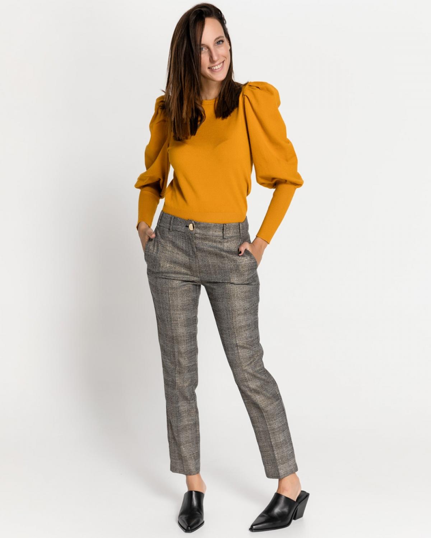 Grey Straigh Leg Cropped Pants