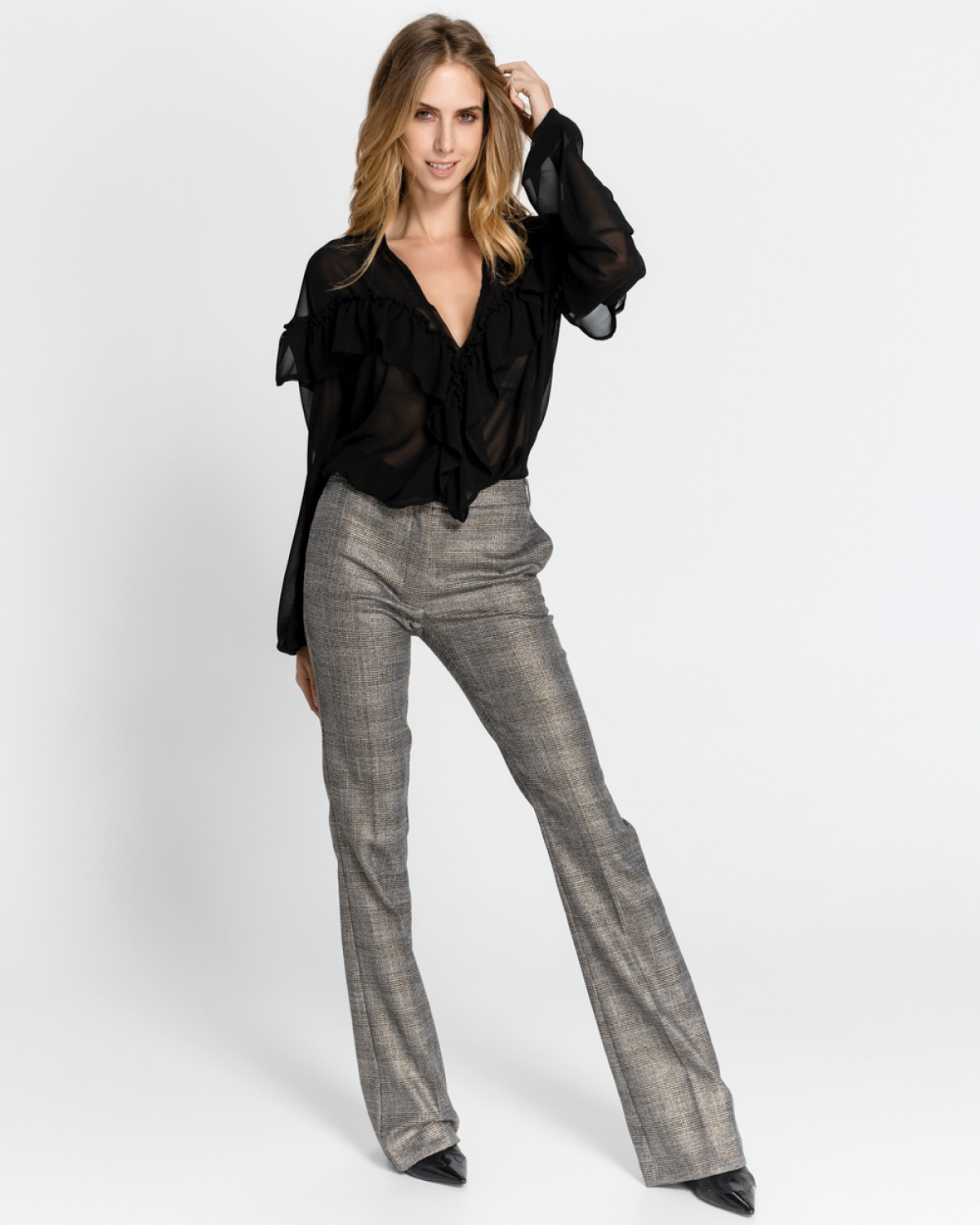 Grey Straight Leg Pants