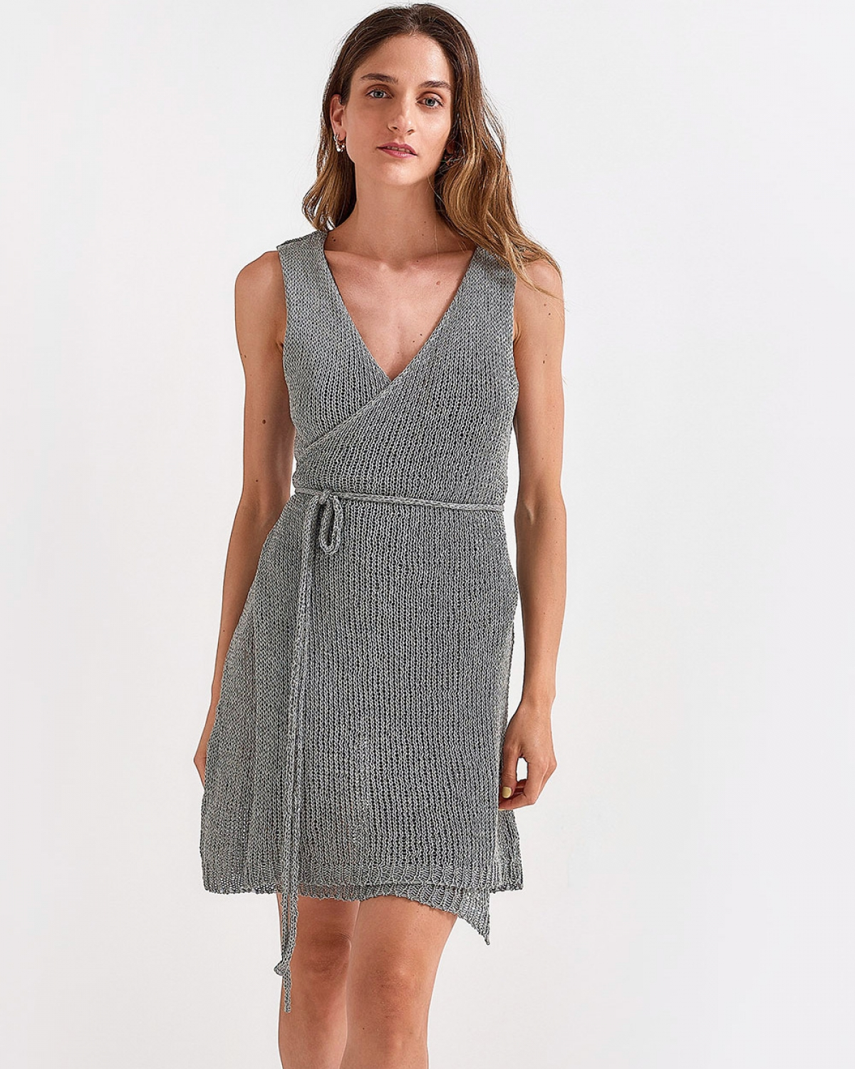 Grey Waisted Dress