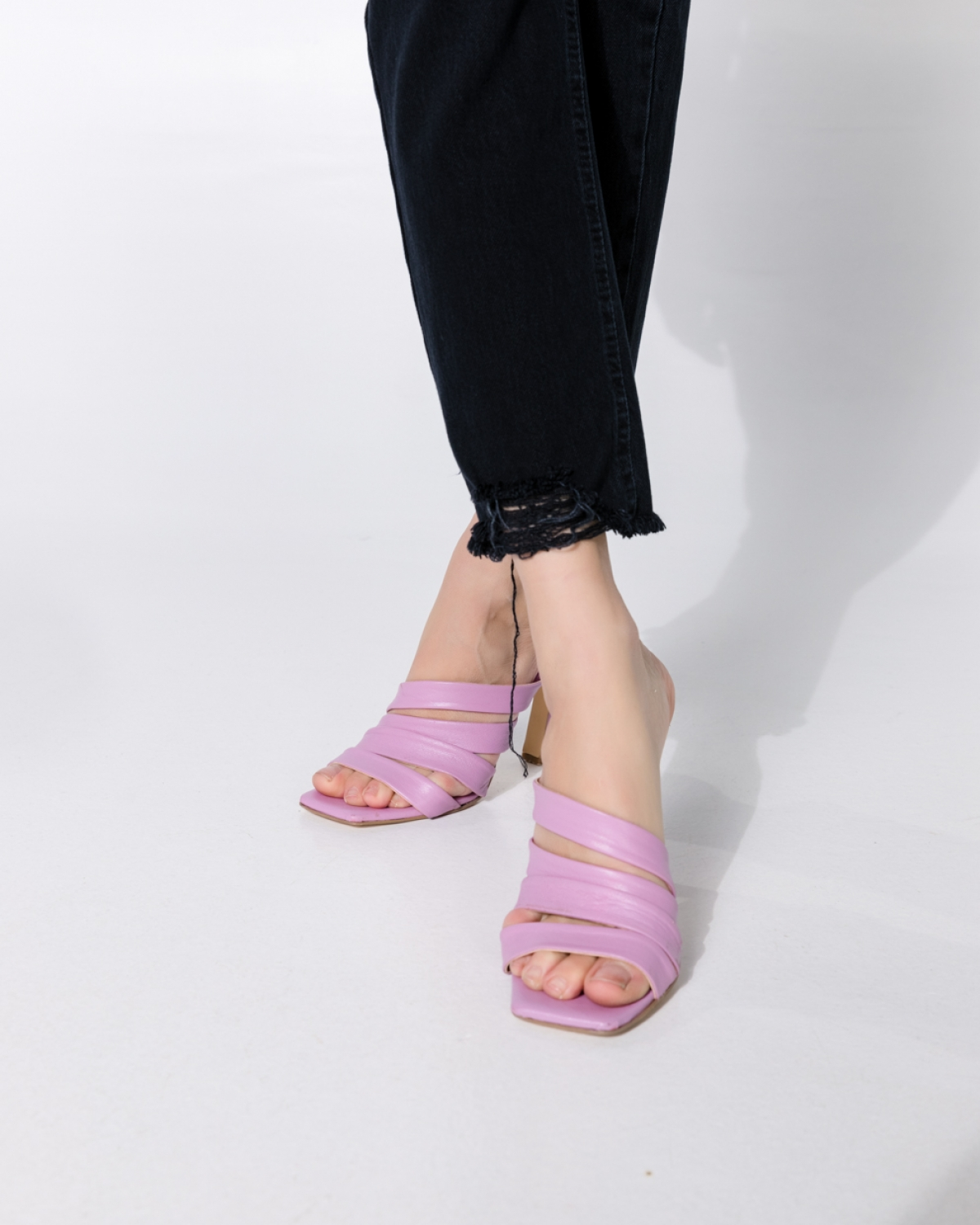 Helma Baby Pink Mules