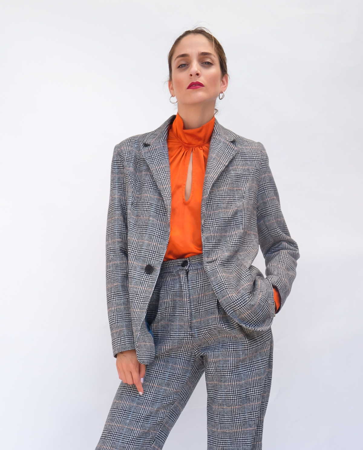 Henrietta Checked Blazer