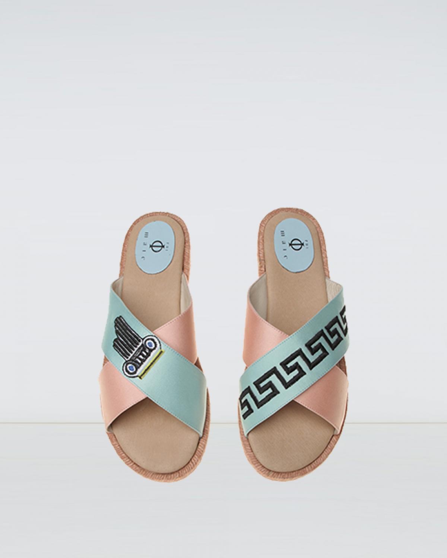 Heritage - Pink Mint Crossover Espadrille Sandal