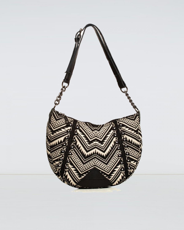 Indie Chain Moon Bag Beige