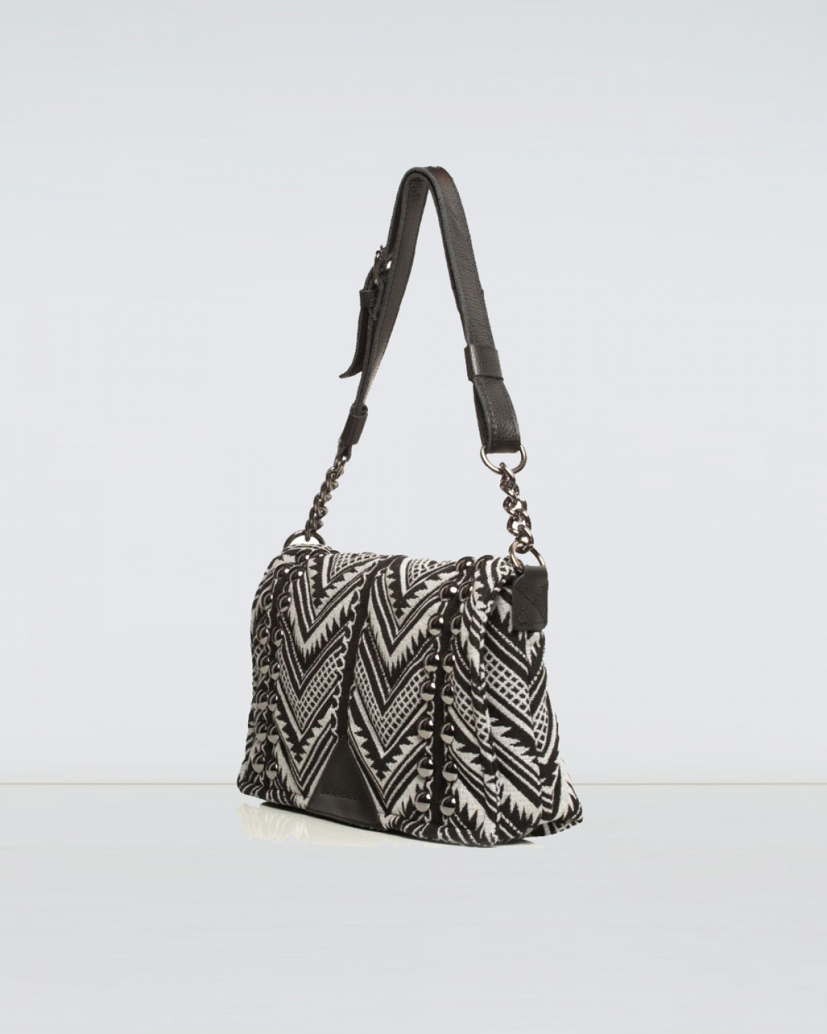Indie Chain Pillow Bag Elephant Grey