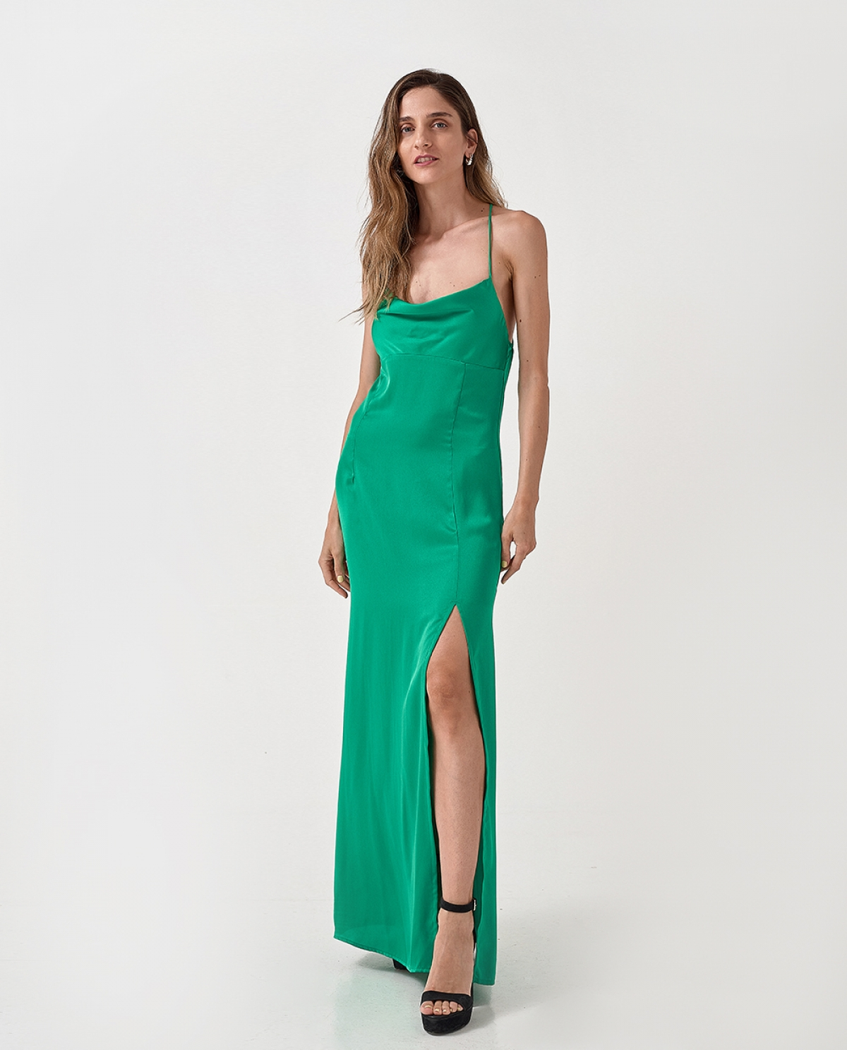 Inya Green Slip Dress